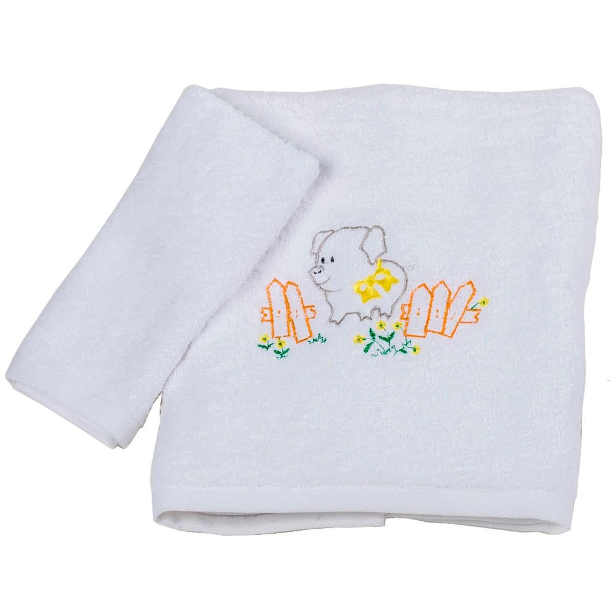 Βρεφικές Πετσέτες (Σετ 2τμχ) Κόσμος Του Μωρού Pig 0502 Γκρι
