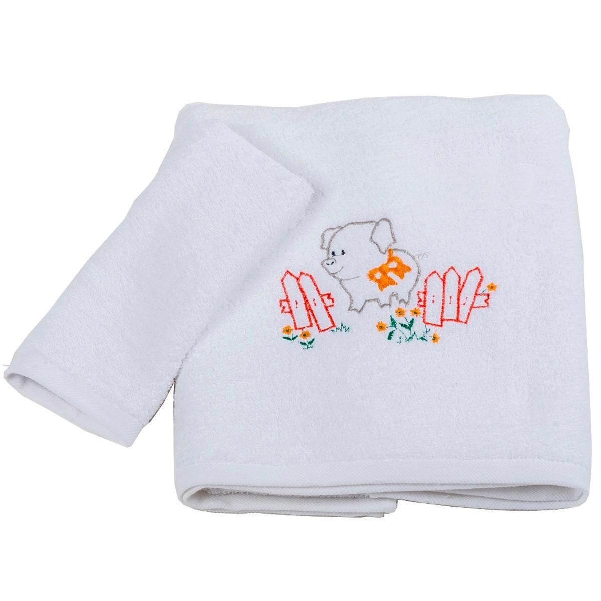 Βρεφικές Πετσέτες (Σετ 2τμχ) Κόσμος Του Μωρού Pig 0502 Κόκκινο