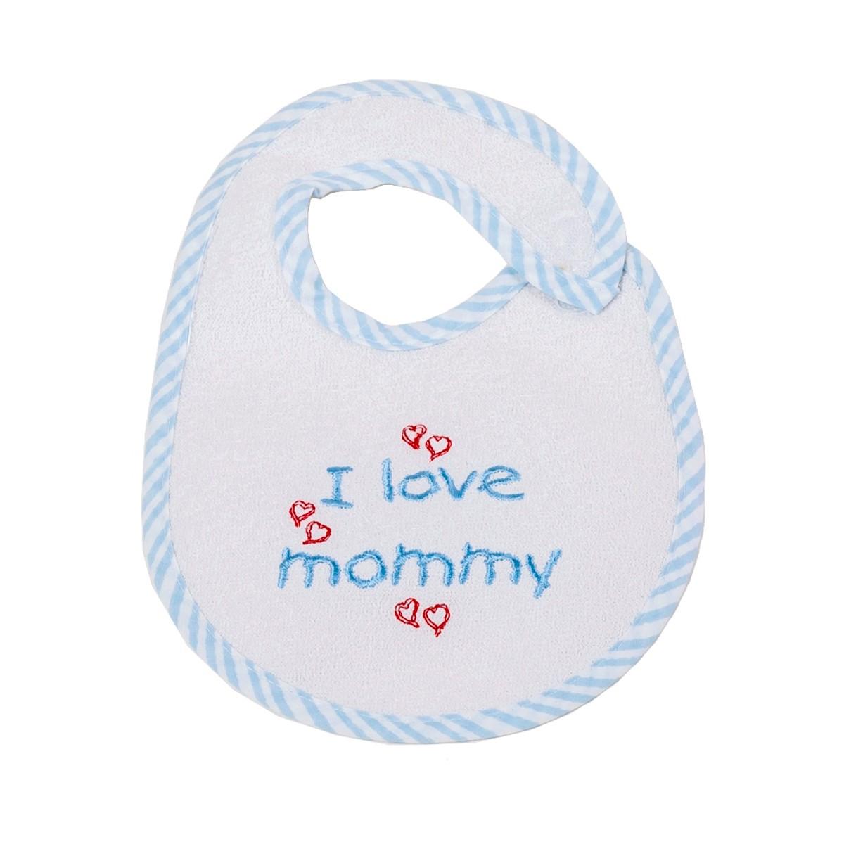 Σαλιάρα Μικρή Κόσμος Του Μωρού Mommy 0606 Σιέλ