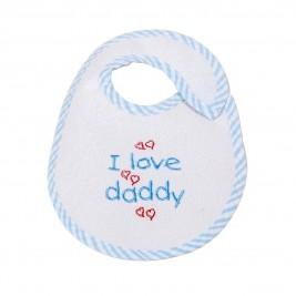 Σαλιάρα Μικρή Κόσμος Του Μωρού Daddy 0606 Σιέλ