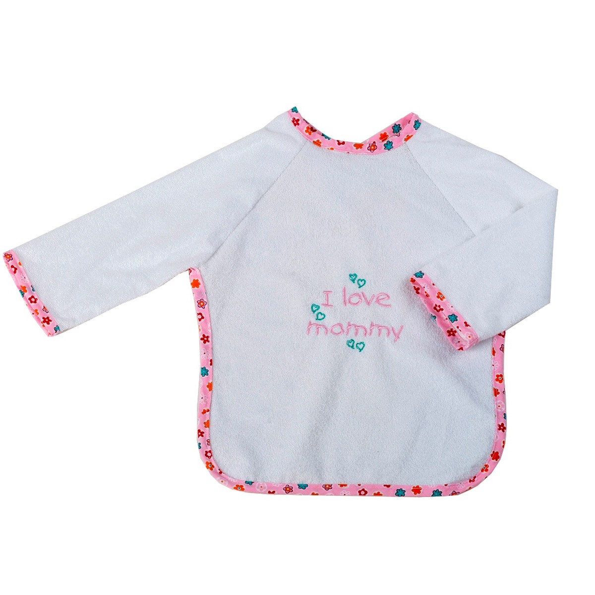 Σαλιάρα Με Μανίκια Κόσμος Του Μωρού 0610 Mommy Ροζ home   βρεφικά   σαλιάρες βρεφικές