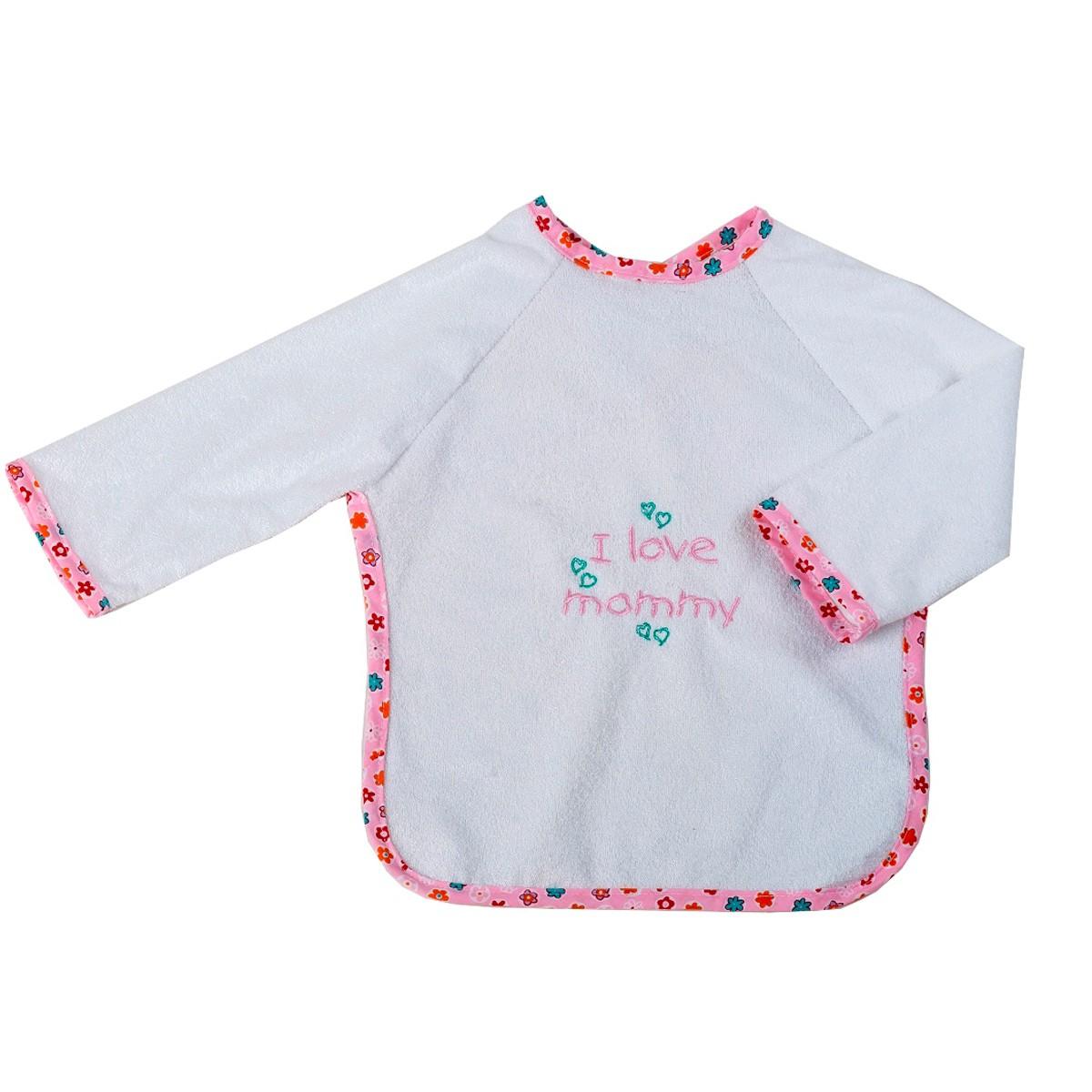 Σαλιάρα Με Μανίκια Κόσμος Του Μωρού Mommy 0610 Ροζ 74662