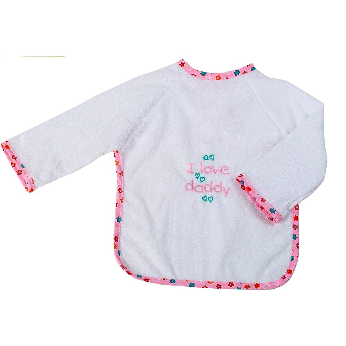 Σαλιάρα Με Μανίκια Κόσμος Του Μωρού Daddy 0610 Ροζ