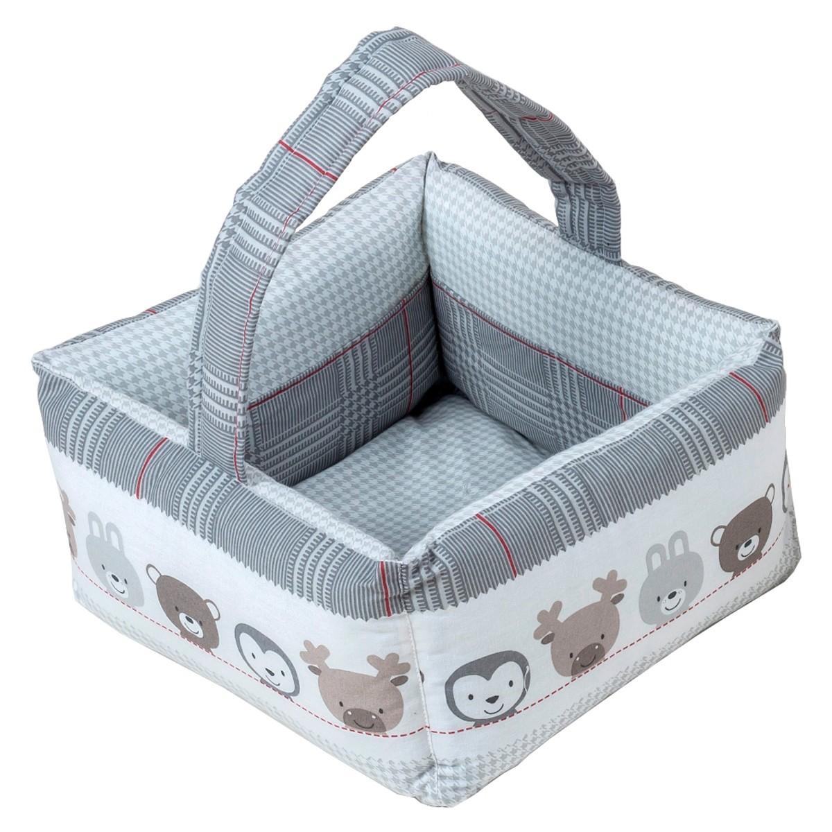 Καλαθάκι Καλλυντικών Κόσμος Του Μωρού Hug 0684 Γκρι