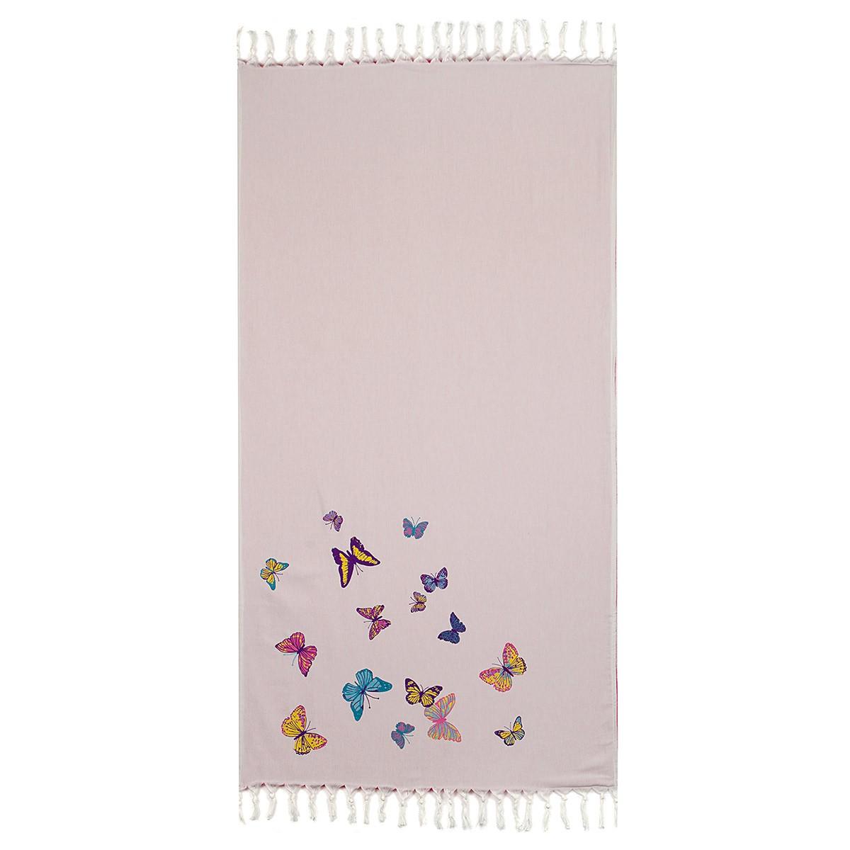 Πετσέτα Θαλάσσης-Παρεό Laura Ashley Butterflies Cerise