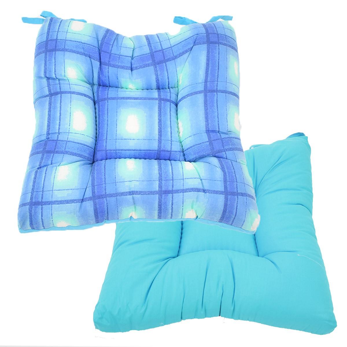 Μαξιλάρι Καρέκλας Φουσκωτό 2 Όψεων Fratoni DobleCara Blue
