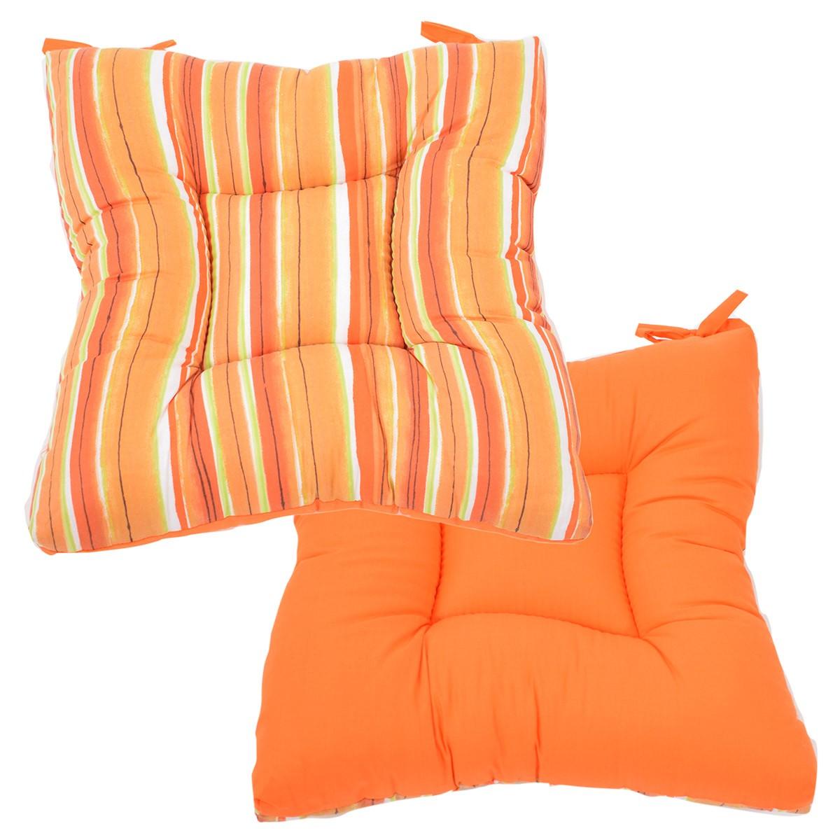 Μαξιλάρι Καρέκλας Φουσκωτό 2 Όψεων Fratoni DobleCara Orange 74774