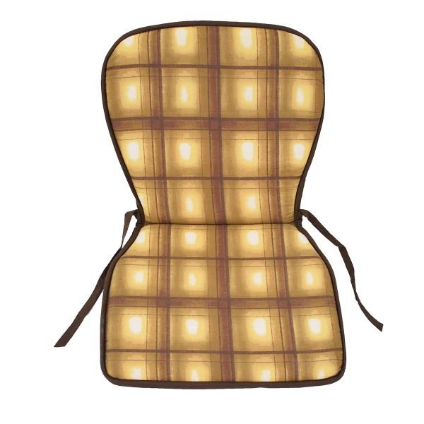 Μαξιλάρι Καρέκλας Κιθάρα 2 Όψεων Fratoni DobleCara Brown