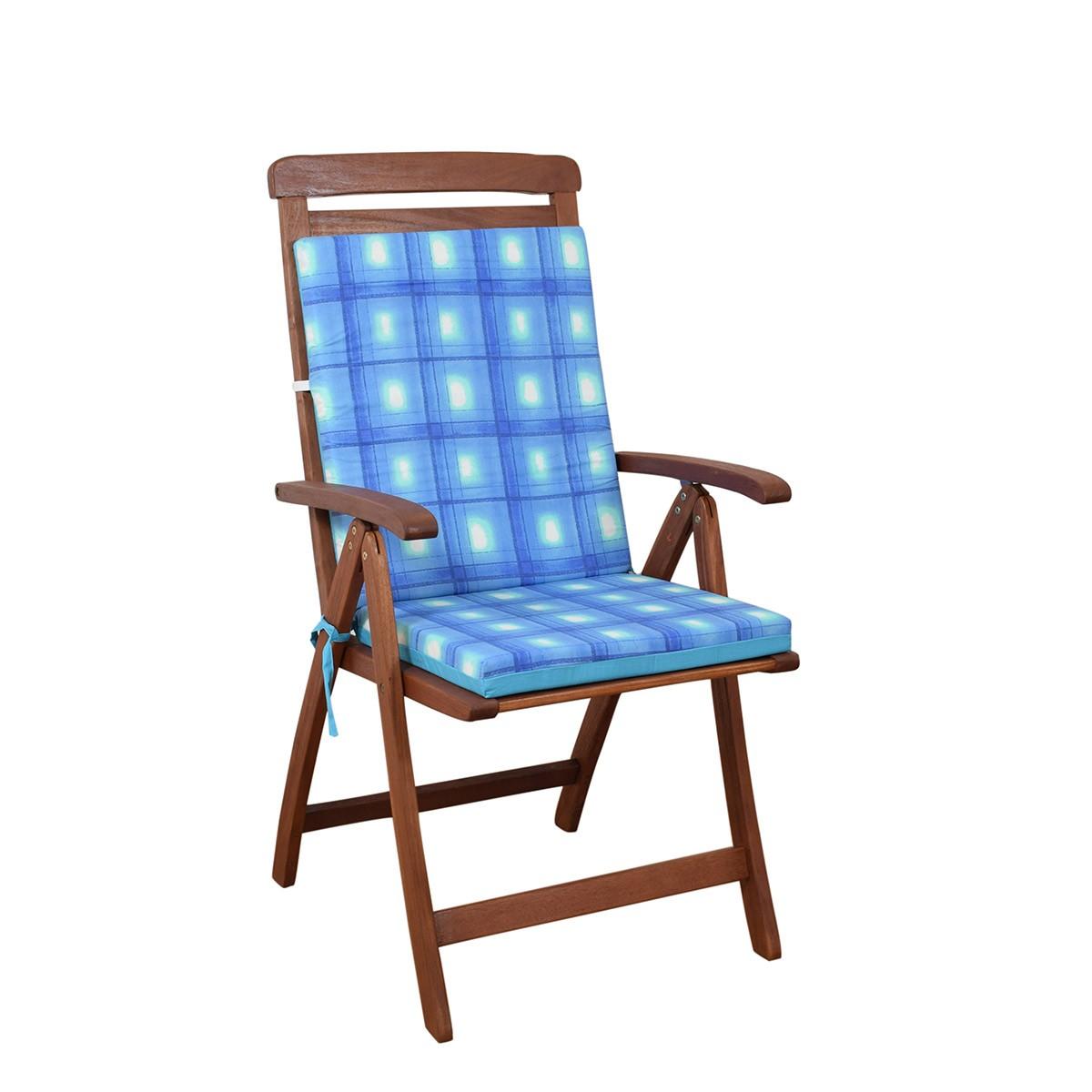 Μαξιλάρι Καρέκλας Πλάτη/Φερμουάρ 2 Όψεων Fratoni DobleCara Blue