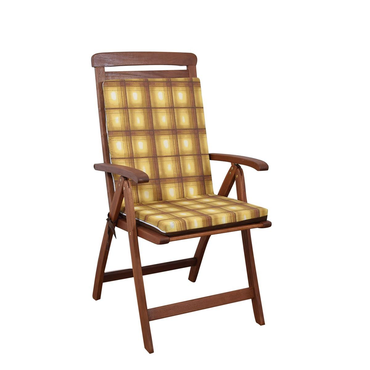 Μαξιλάρι Καρέκλας Πλάτη/Φερμουάρ 2 Όψεων Fratoni DobleCara Brown