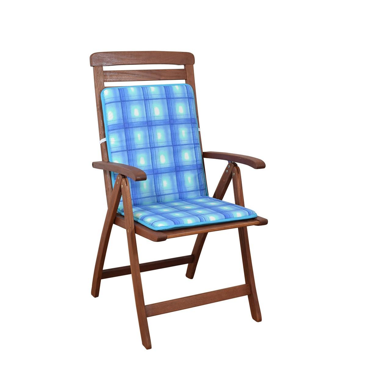 Μαξιλάρι Καρέκλας Πλάτη/Ρέλι 2 Όψεων Fratoni DobleCara Blue 74784