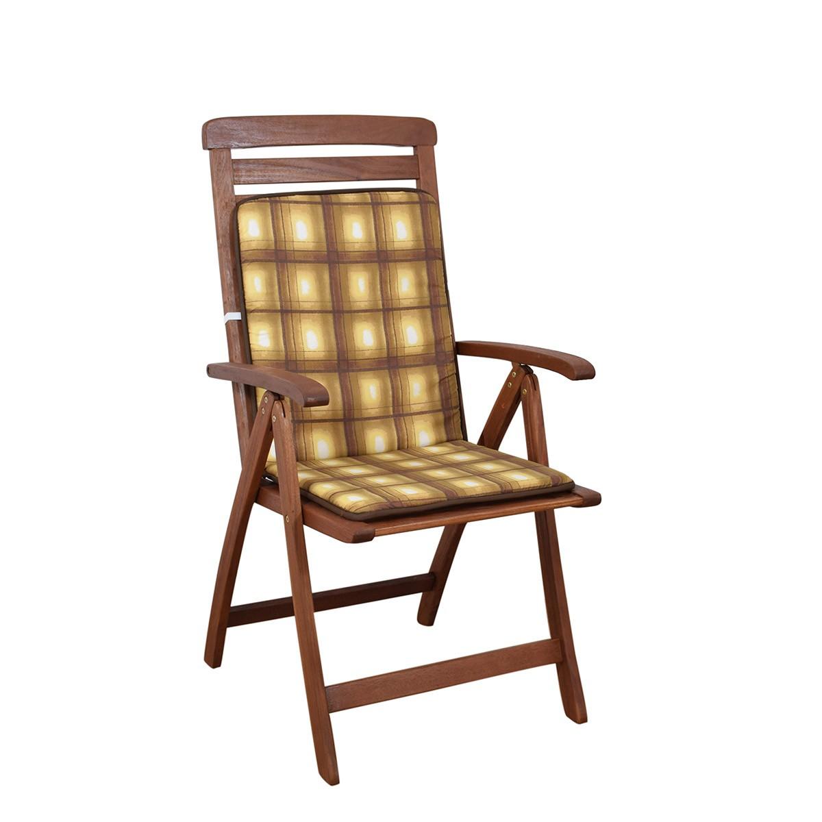 Μαξιλάρι Καρέκλας Πλάτη/Ρέλι 2 Όψεων Fratoni DobleCara Brown