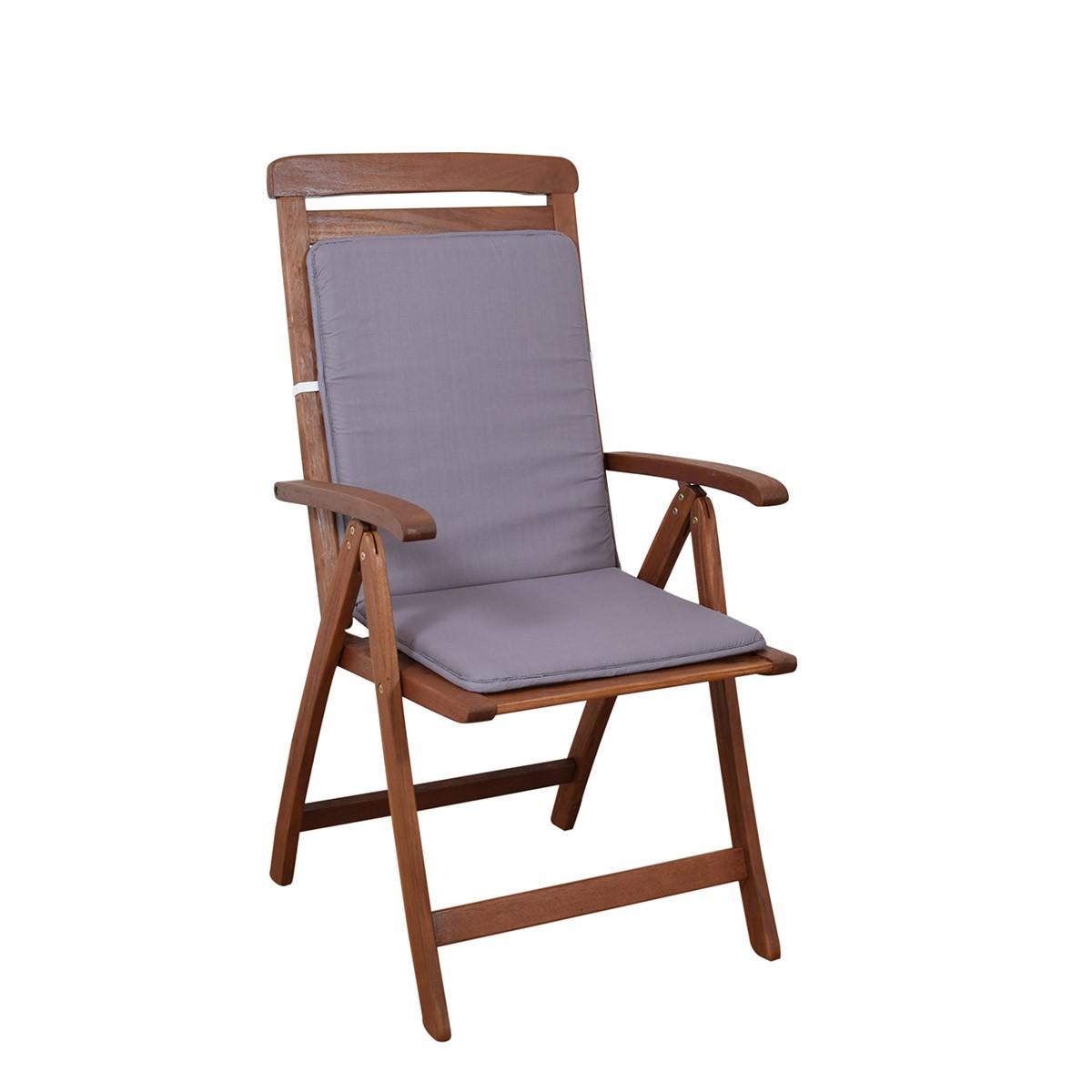 Μαξιλάρι Καρέκλας Πλάτη/Ρέλι Fratoni Solid Grey