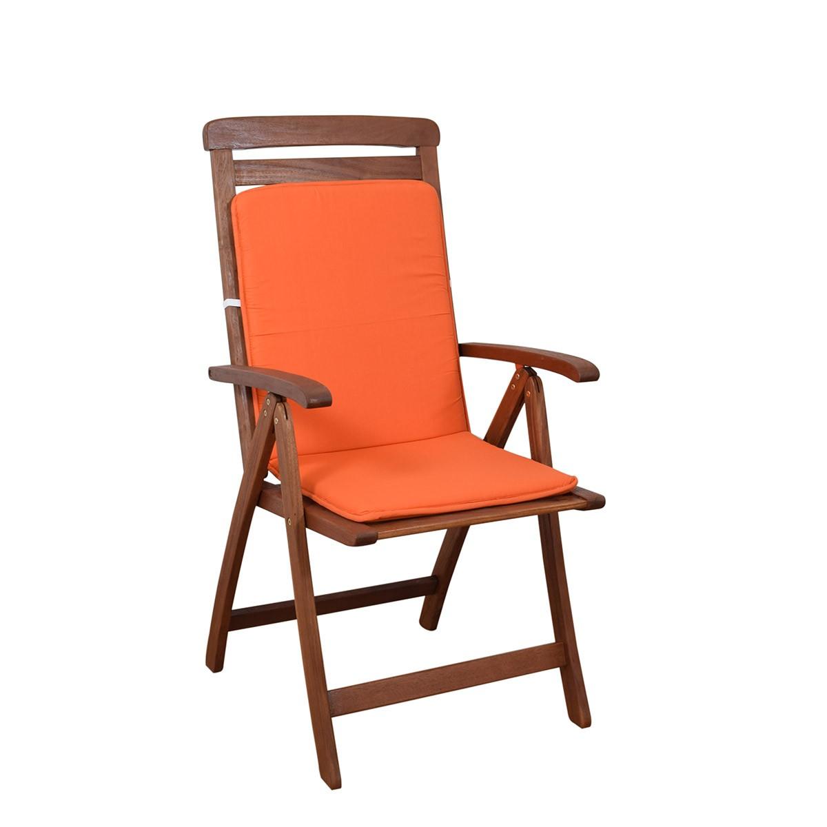 Μαξιλάρι Καρέκλας Πλάτη/Ρέλι Fratoni Solid Orange