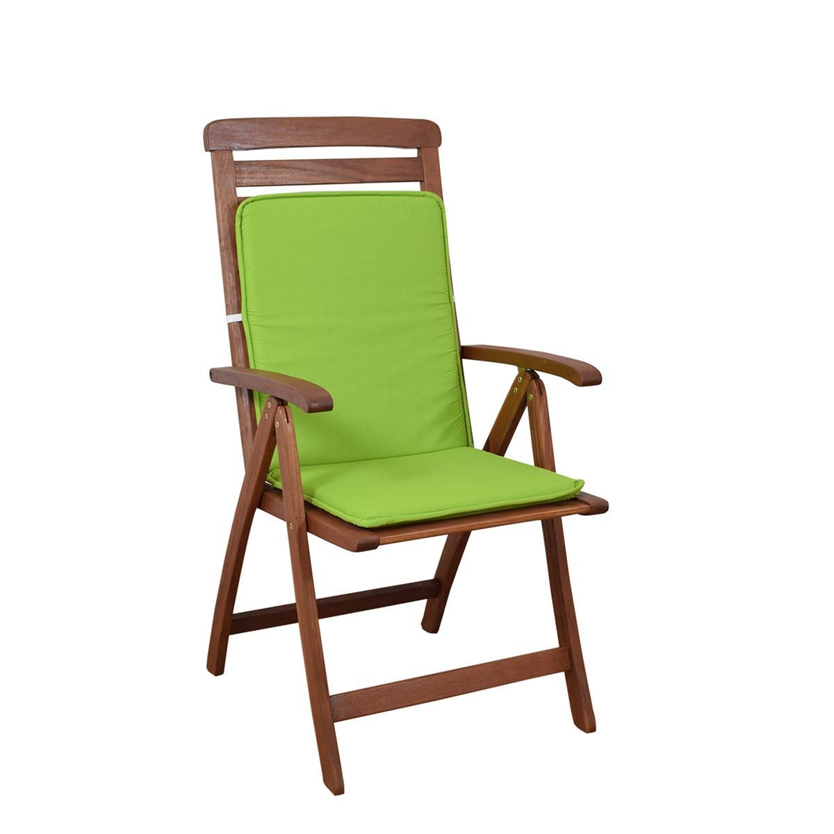 Μαξιλάρι Καρέκλας Πλάτη/Ρέλι Fratoni Solid Green 74794
