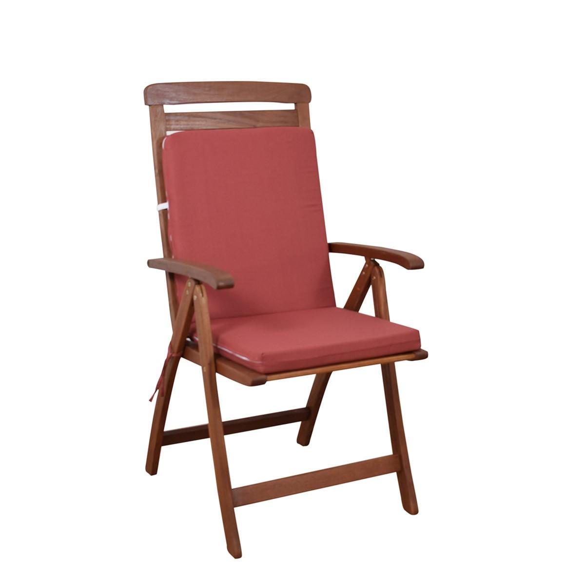Μαξιλάρι Καρέκλας Πλάτη/Φερμουάρ Fratoni Solid Terracota