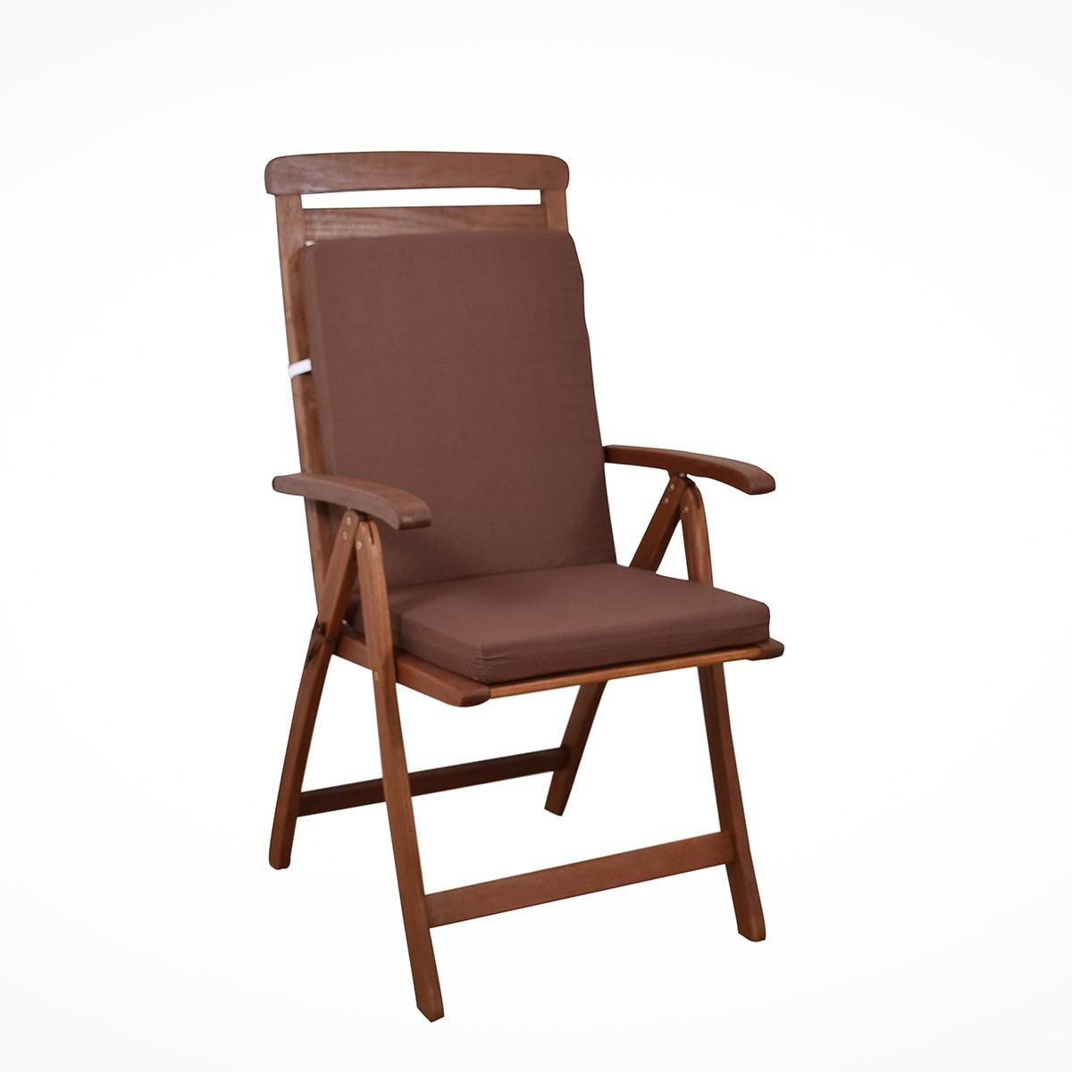 Μαξιλάρι Καρέκλας Πλάτη/Φερμουάρ Fratoni Solid Brown