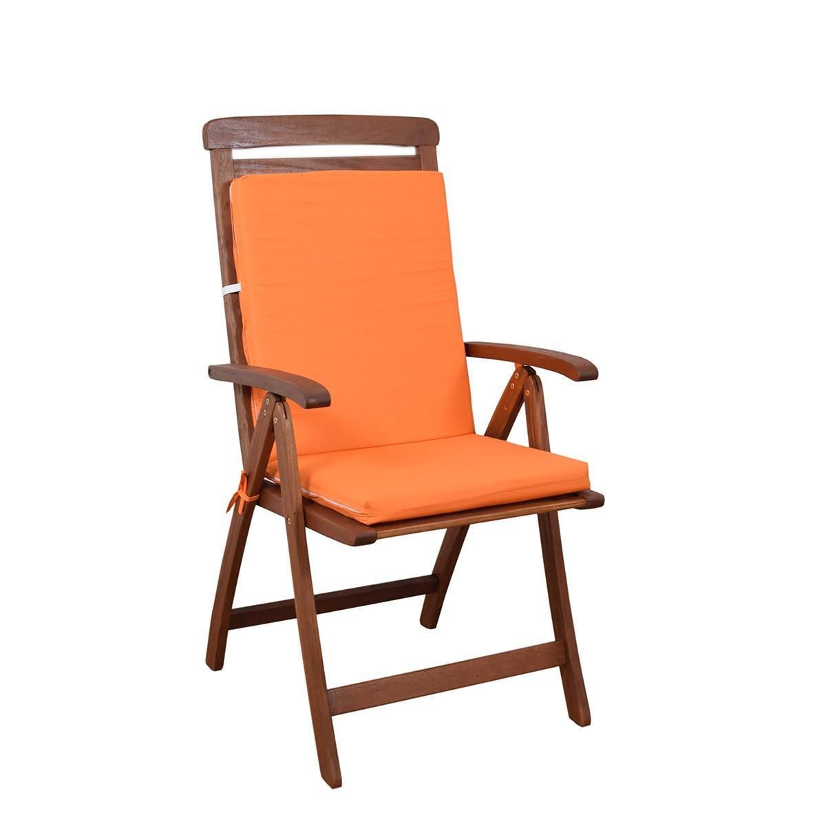 Μαξιλάρι Καρέκλας Πλάτη/Φερμουάρ Fratoni Solid Orange