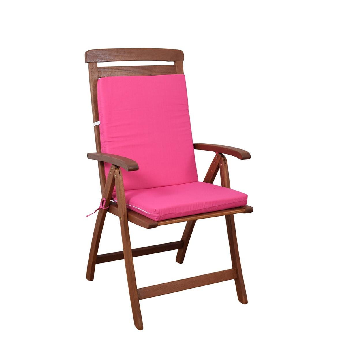 Μαξιλάρι Καρέκλας Πλάτη/Φερμουάρ Fratoni Solid Fuchsia