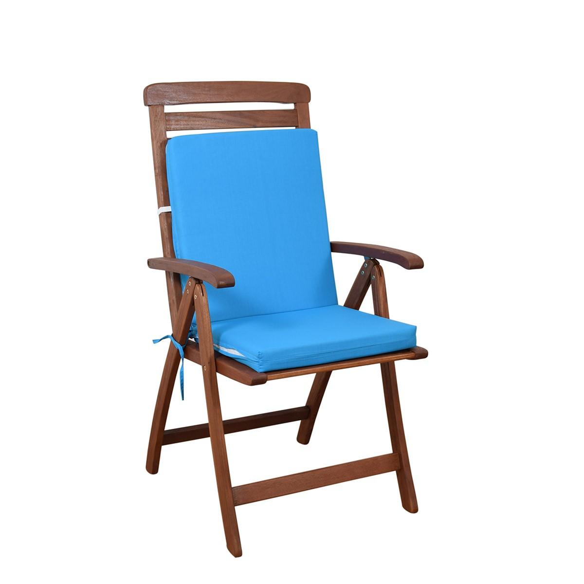 Μαξιλάρι Καρέκλας Πλάτη/Φερμουάρ Fratoni Solid Turquoise