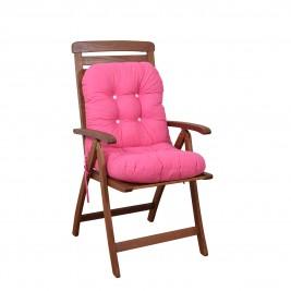 Μαξιλάρι Καρέκλας Bamboo Με Πλάτη Fratoni Solid Fuchsia