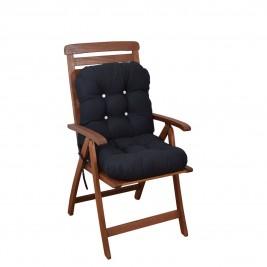 Μαξιλάρι Καρέκλας Bamboo Με Πλάτη Fratoni Solid Black