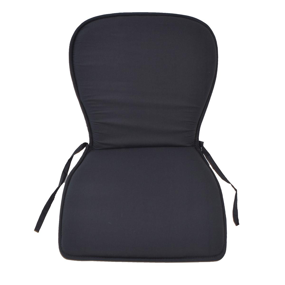 Μαξιλάρι Καρέκλας Κιθάρα Fratoni Solid Black home   κουζίνα   τραπεζαρία   μαξιλάρια καρέκλας