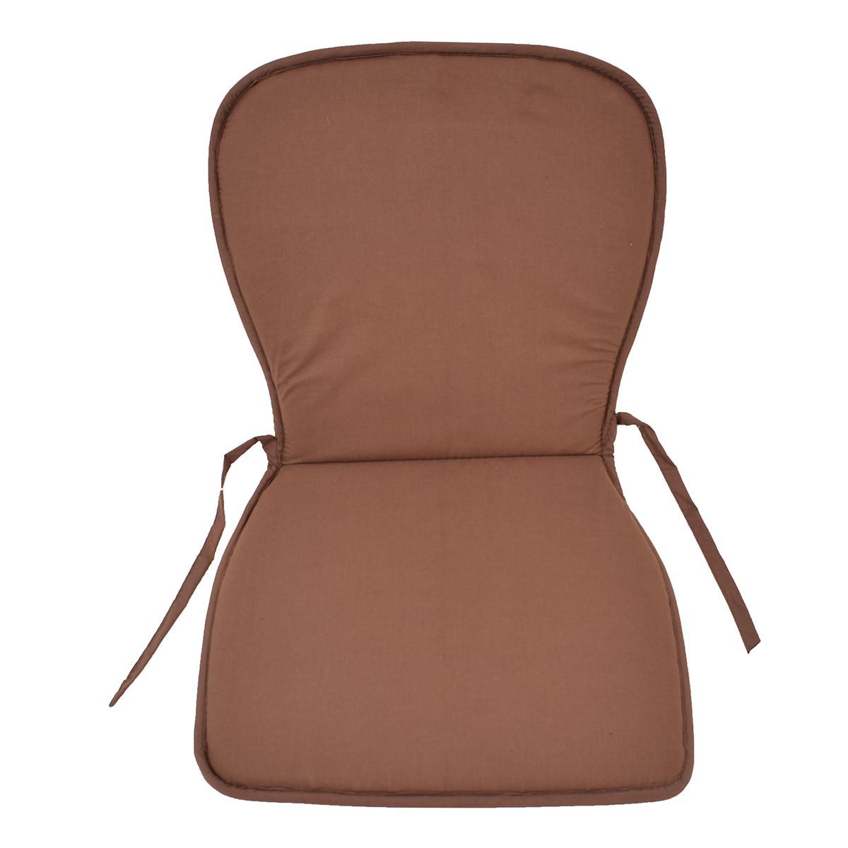 Μαξιλάρι Καρέκλας Κιθάρα Fratoni Solid Brown