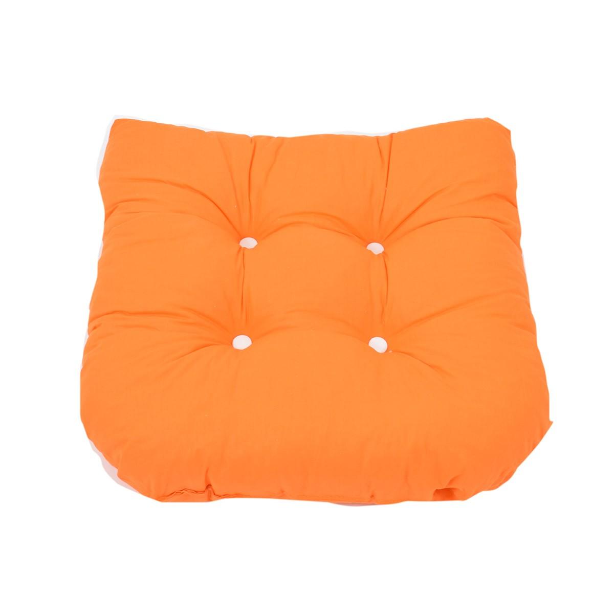 Μαξιλάρι Καρέκλας Bamboo Πέταλο Fratoni Solid Orange