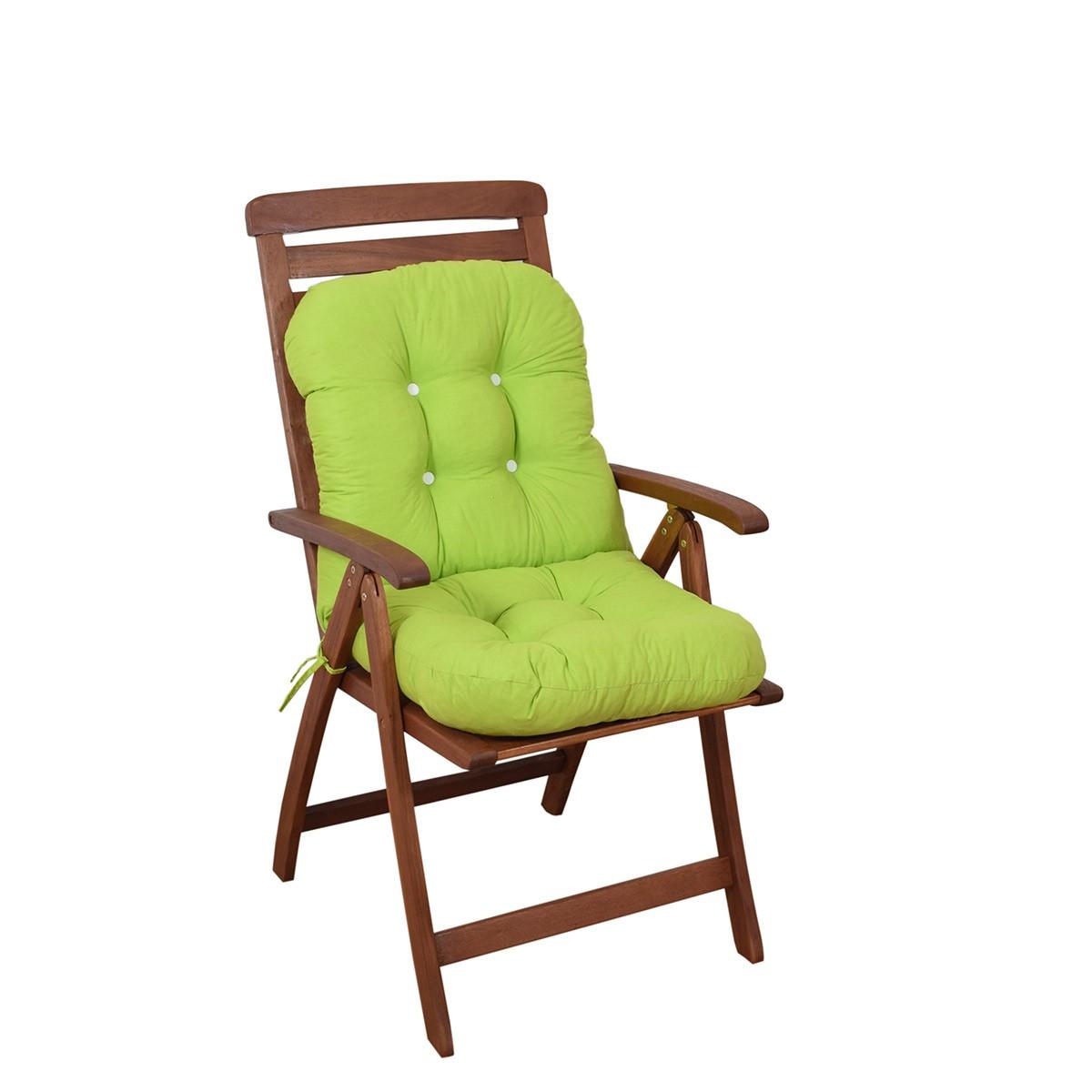 Μαξιλάρι Καρέκλας Bamboo Με Πλάτη Fratoni Solid Green