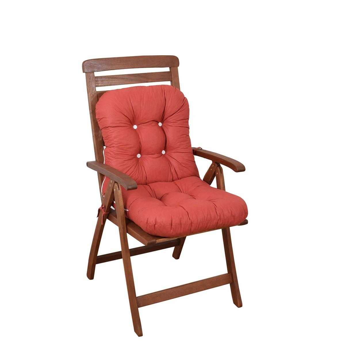 Μαξιλάρι Καρέκλας Bamboo Με Πλάτη Fratoni Solid Terracota