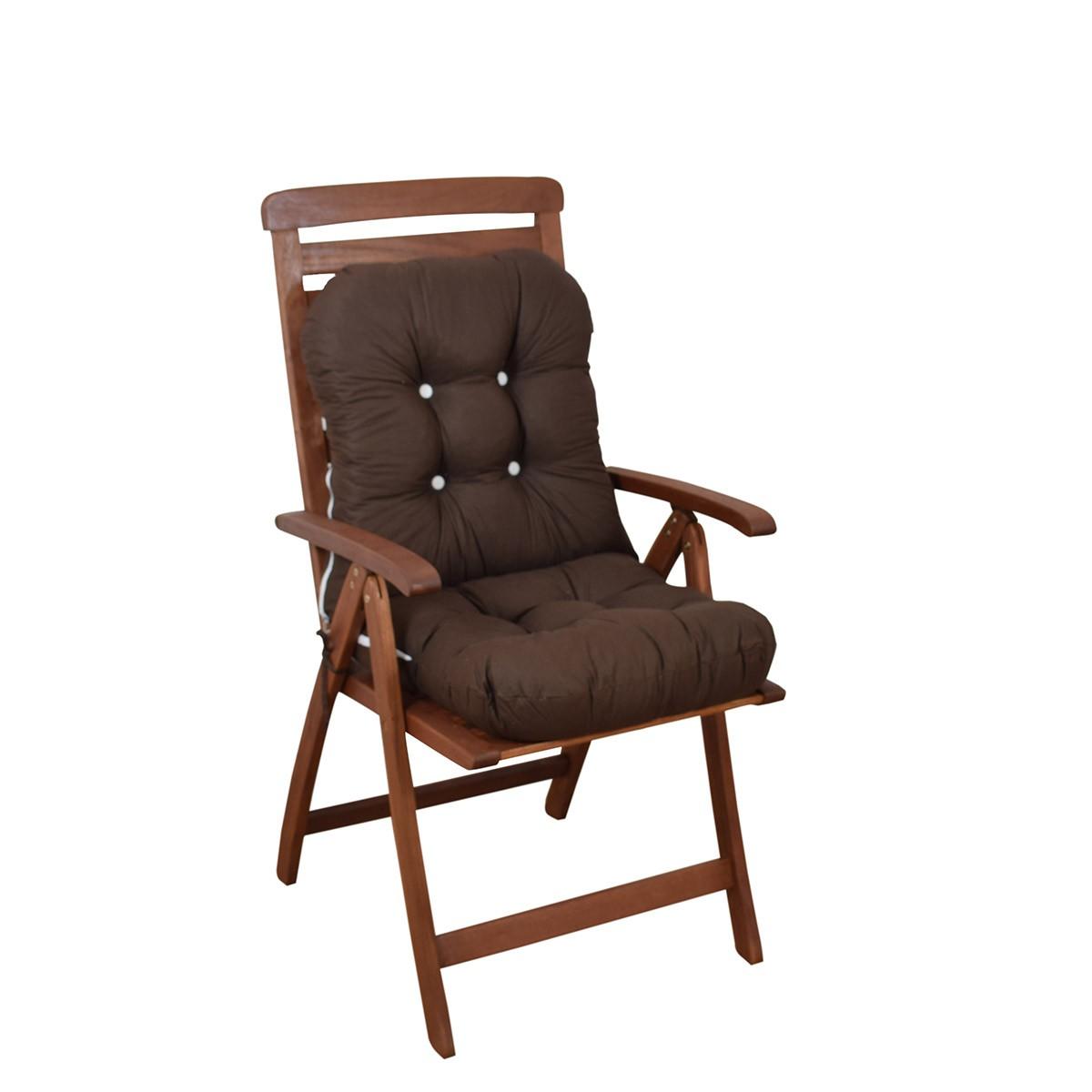 Μαξιλάρι Καρέκλας Bamboo Με Πλάτη Fratoni Solid Brown