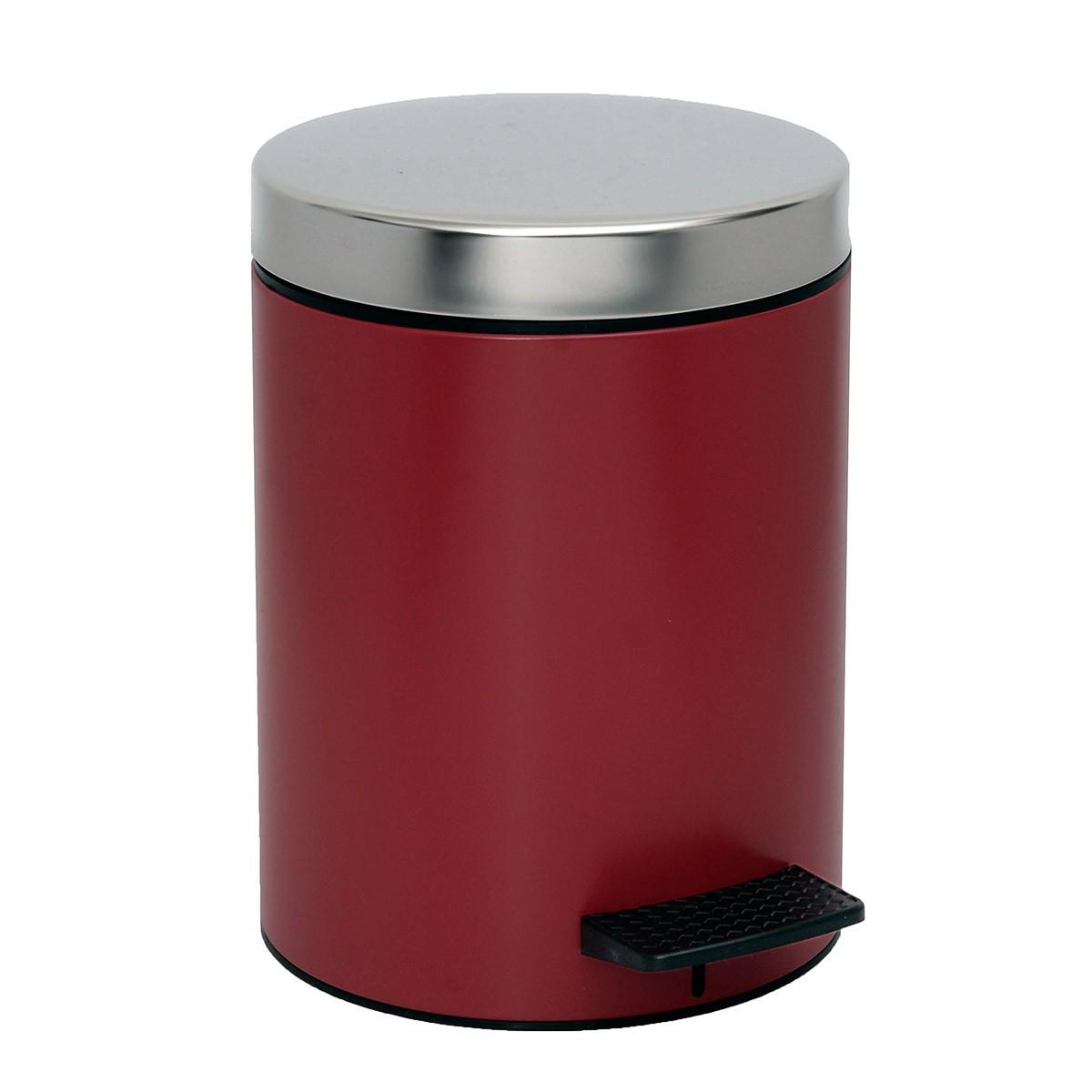Κάδος Απορριμάτων (20×28) PamCo 5Lit 126 Bordeaux