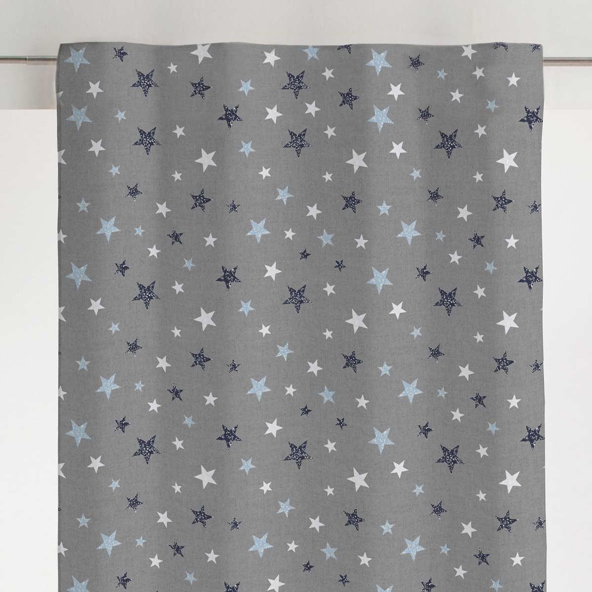 Παιδική Κουρτίνα (140×270) Με Τρέσα Viopros Σκάι Μπλε