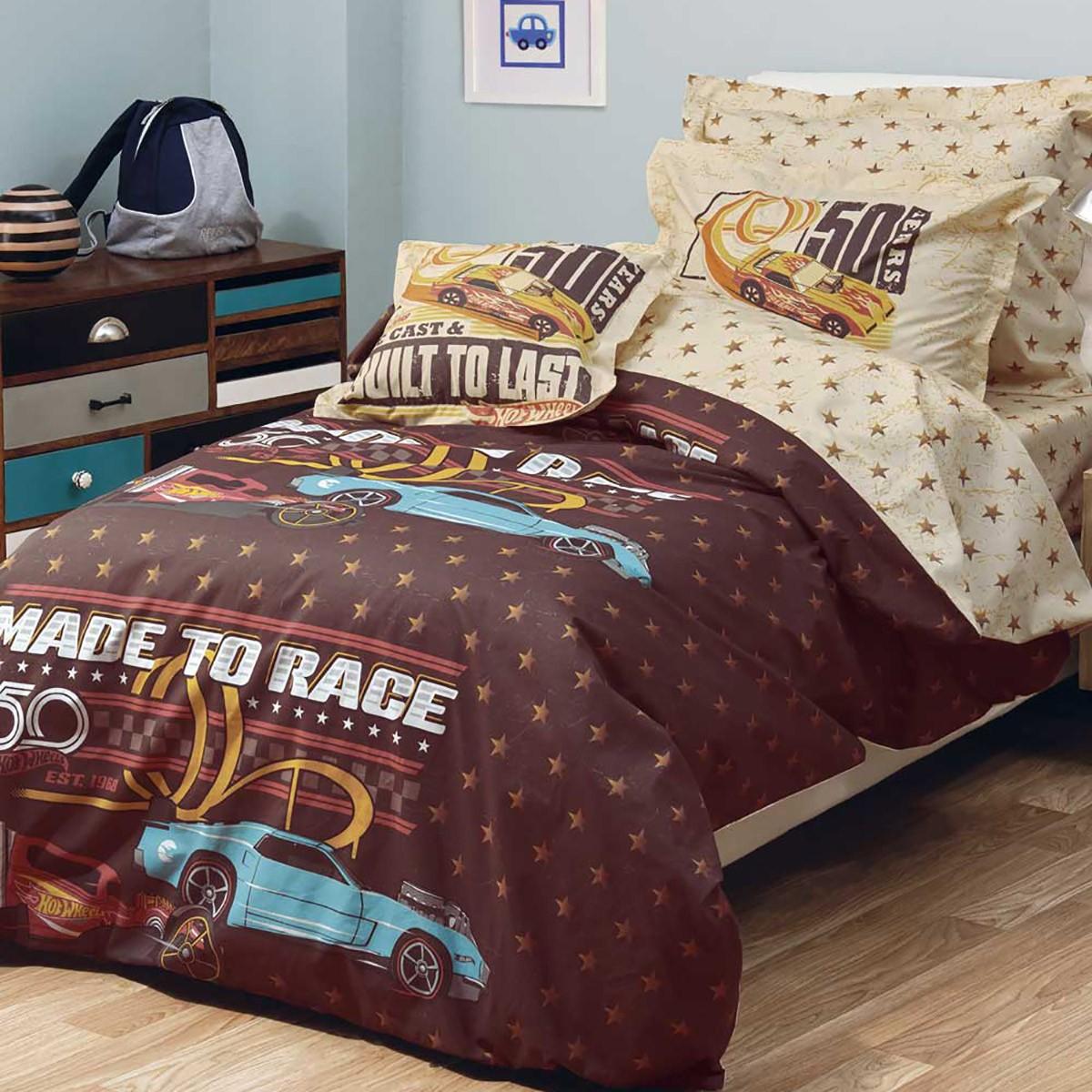 Σεντόνια Μονά (Σετ) Kentia Kids Hot Wheels 514