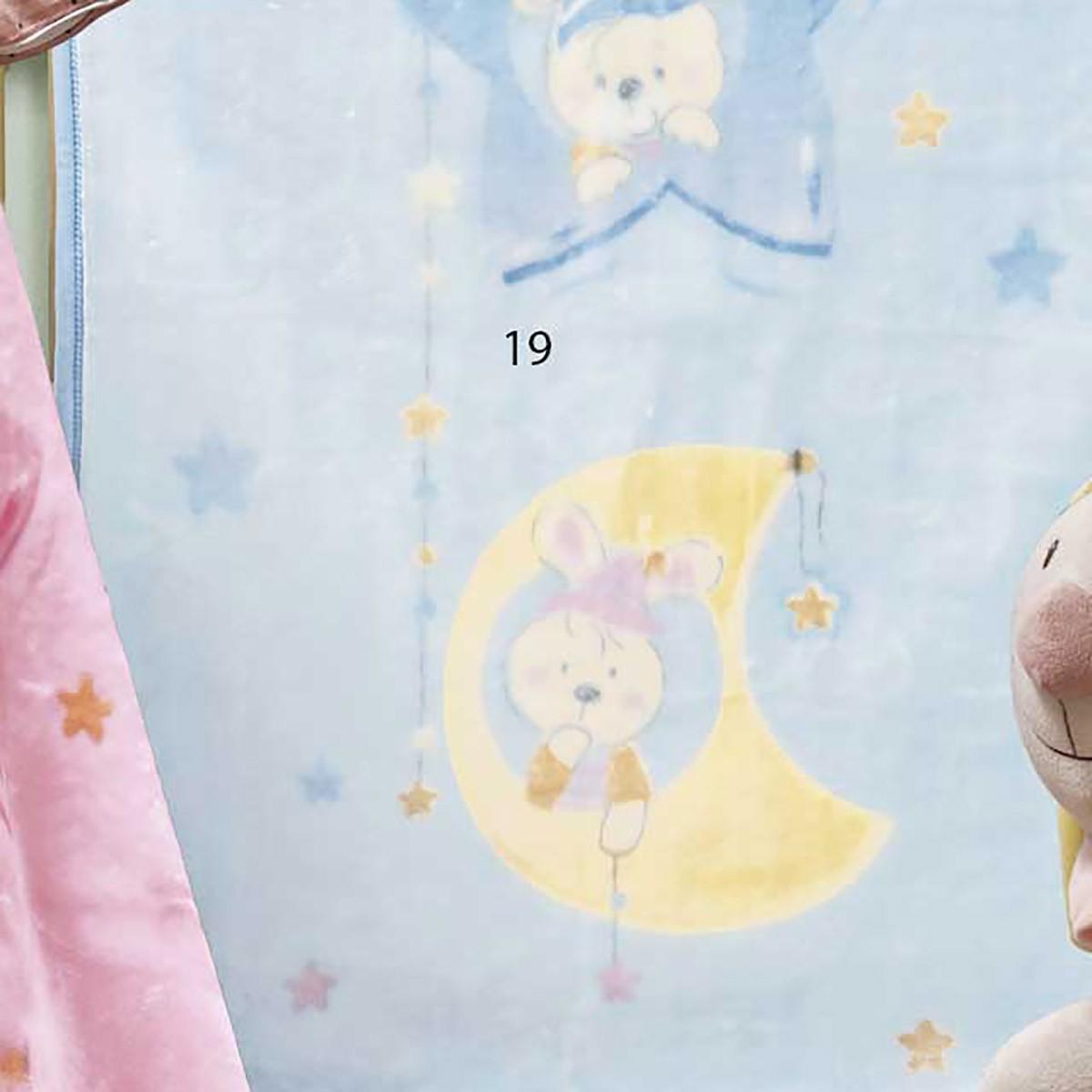 Κουβέρτα Βελουτέ Αγκαλιάς Kentia Baby Ron 19