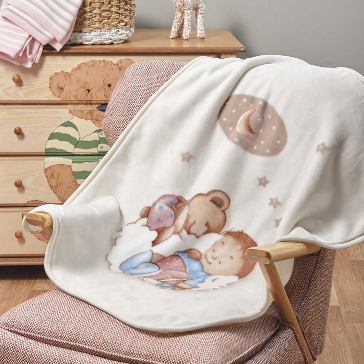 Κουβέρτα Βελουτέ Αγκαλιάς Kentia Baby Sleepy
