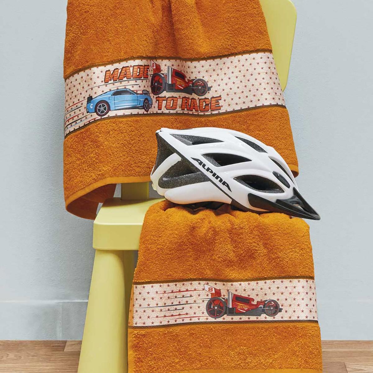 Παιδικές Πετσέτες (Σετ 2τμχ) Kentia Kids Hot Wheels 021