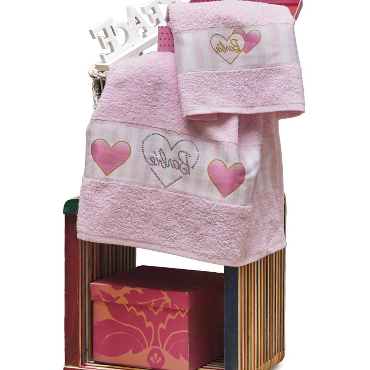 Παιδικές Πετσέτες (Σετ 2τμχ) Kentia Kids Barbie 050