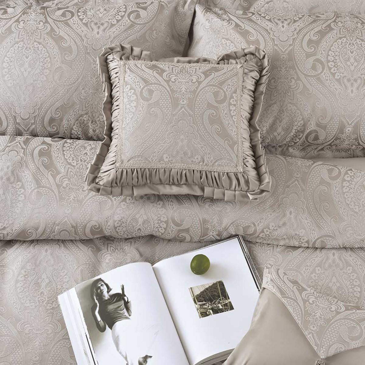 Διακοσμητική Μαξιλαροθήκη Με Βολάν Kentia Serenity Arya 26