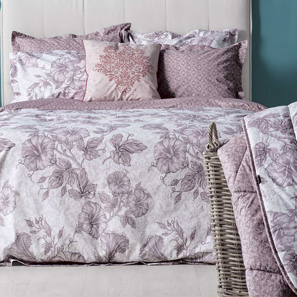 Ζεύγος Μαξιλαροθήκες Oxford Kentia Stylish Amaryllis 20 home   κρεβατοκάμαρα   μαξιλάρια   μαξιλαροθήκες