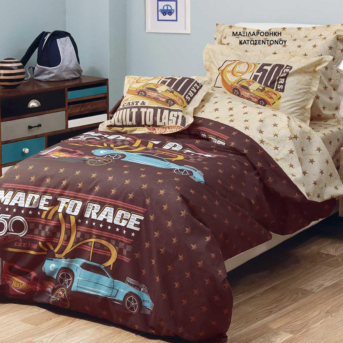 Μαξιλαροθήκη Κατωσέντονου Kentia Kids Hot Wheels 514