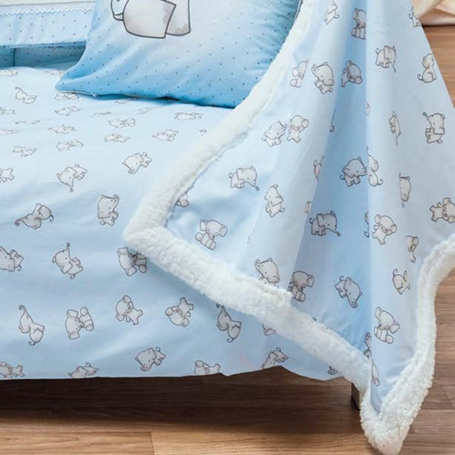 Κουβέρτα Fleece Κούνιας Με Γουνάκι Kentia Baby Yuri