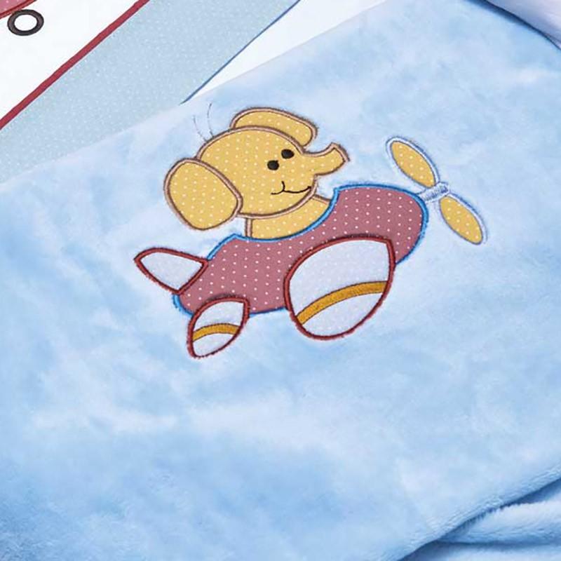 Κουβέρτα Βελουτέ Κούνιας Kentia Baby Pilots