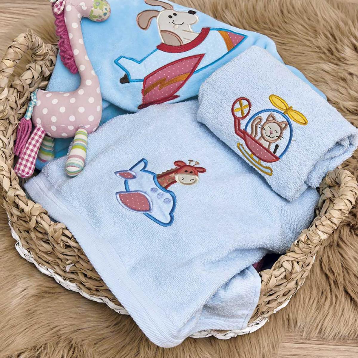 Κουβέρτα Βελουτέ Αγκαλιάς Kentia Baby Pilots