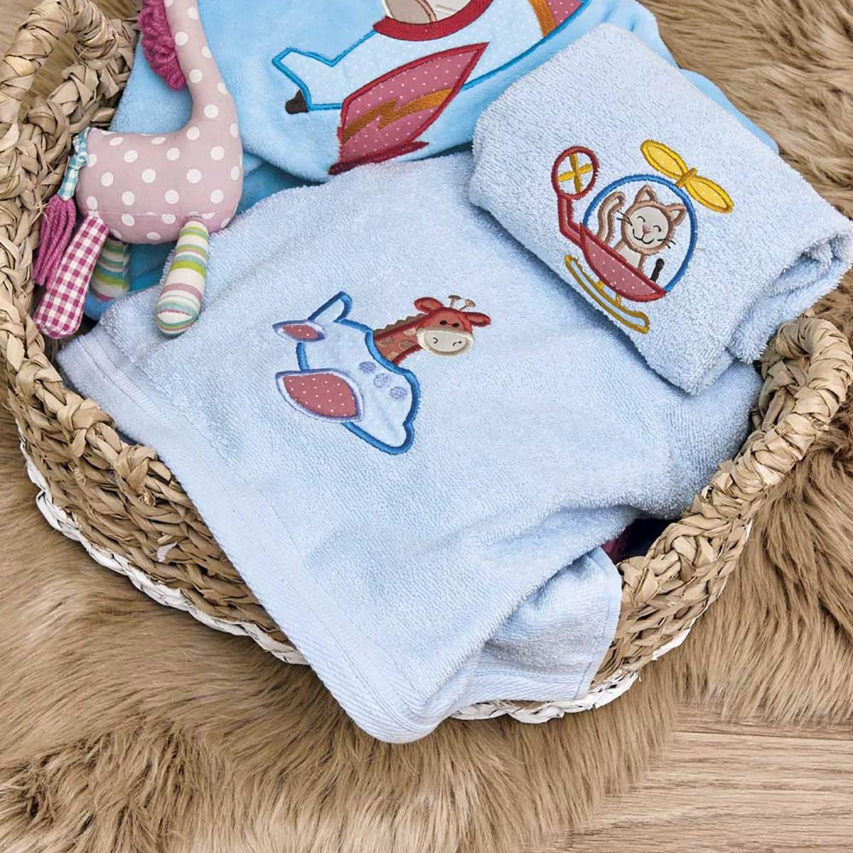 Βρεφικές Πετσέτες (Σετ 2τμχ) Kentia Baby Pilots
