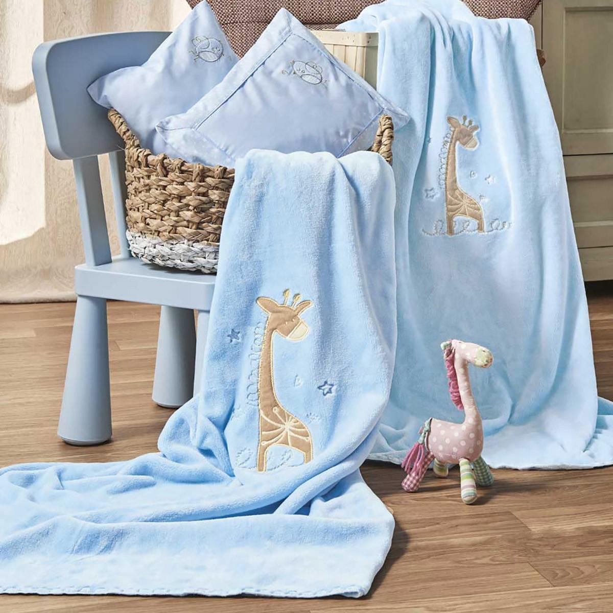 Κουβέρτα Βελουτέ Κούνιας Kentia Baby Momo 19