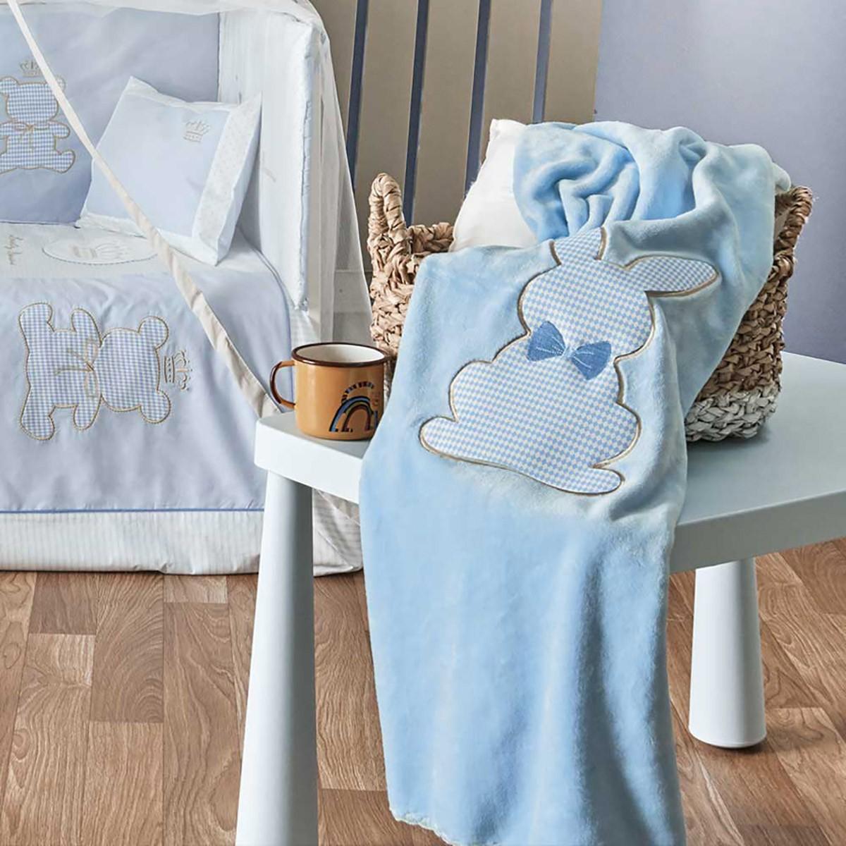 Κουβέρτα Βελουτέ Κούνιας Kentia Baby Rabbit 19