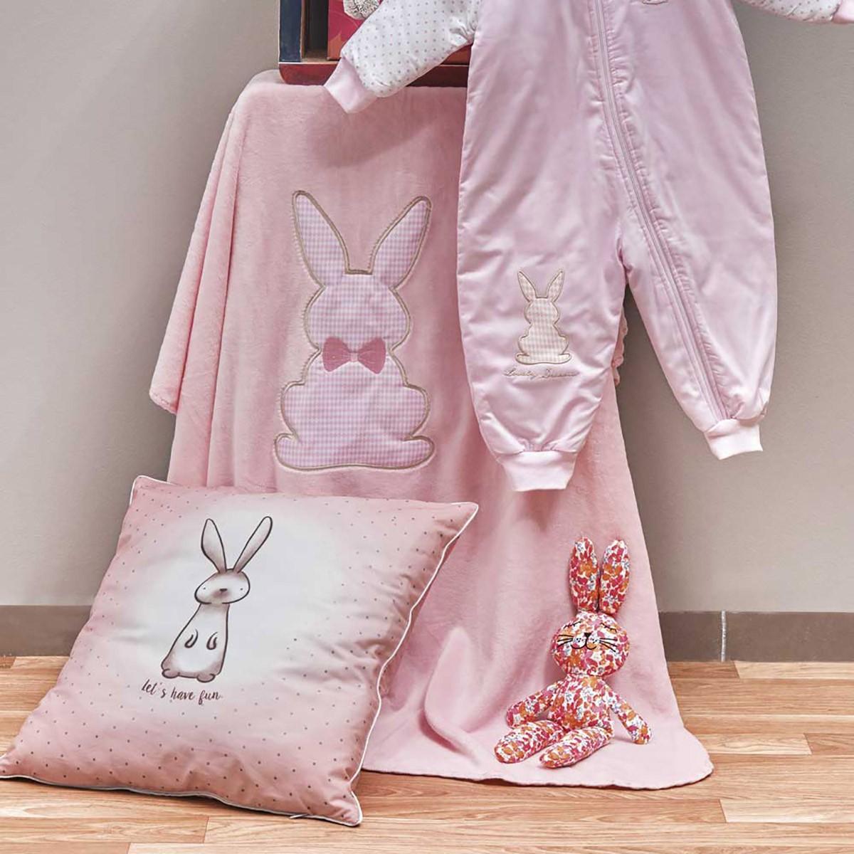 Κουβέρτα Βελουτέ Κούνιας Kentia Baby Rabbit 14