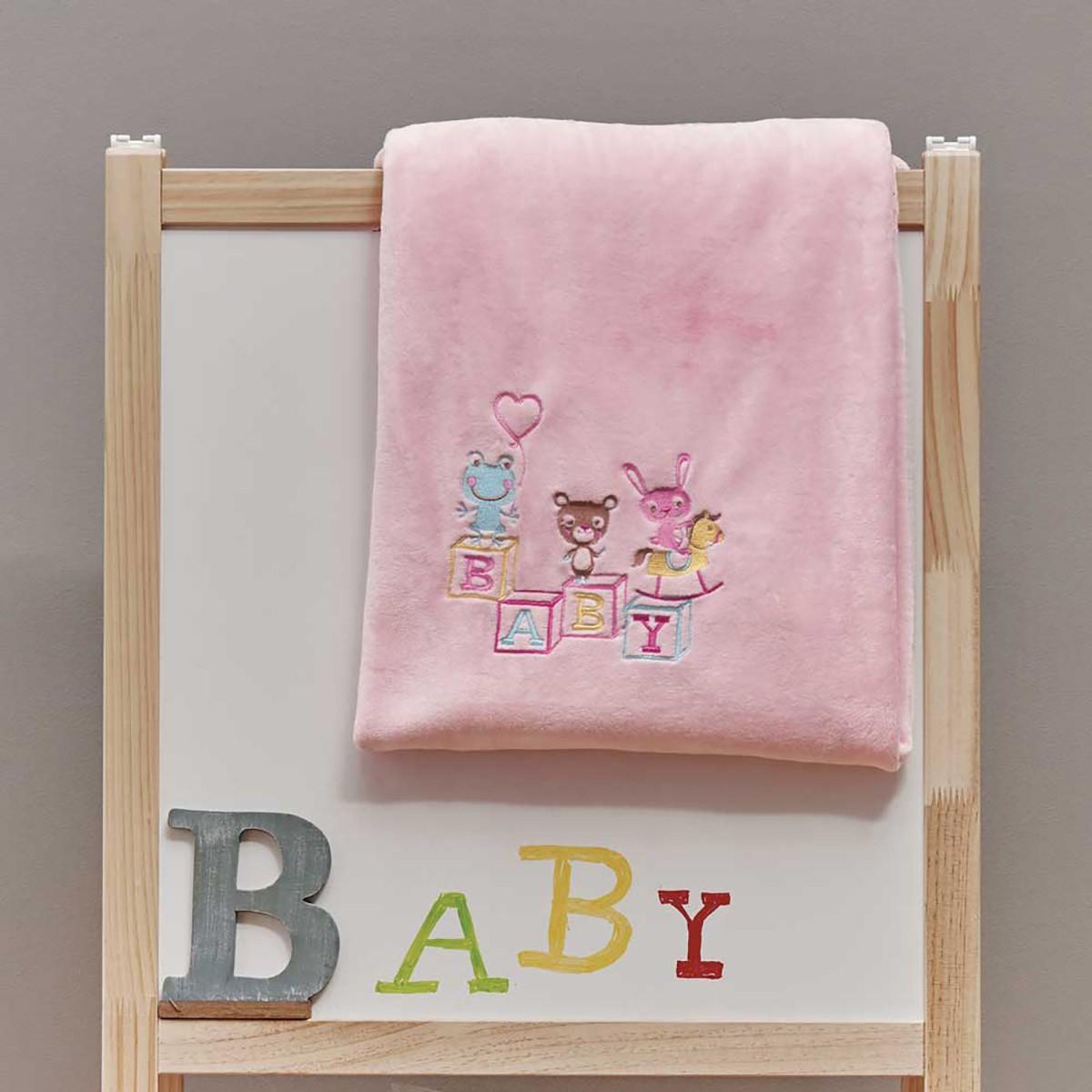 Κουβέρτα Βελουτέ Κούνιας Kentia Baby Cube